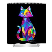 Rainbow Cat Shower Curtain