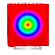 Rainbow Circles Shower Curtain
