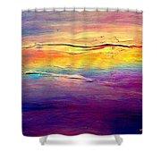 Rainbow Clouds Full Spectrum Shower Curtain