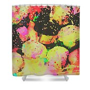 Rainbow Color Cupcakes Shower Curtain