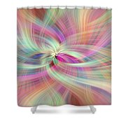 Rainbow Colored Abstract. Concept Divine Virtues Shower Curtain