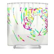 Rainbow Coloured Tiger Shower Curtain
