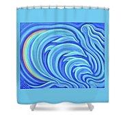 Rainbow Dolphins Shower Curtain