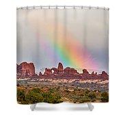 Rainbow Down Shower Curtain