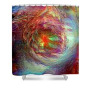 Rainbow Dreams Shower Curtain by Linda Sannuti