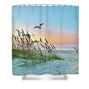Rainbow Dune Shower Curtain