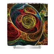 Rainbow Egg Formation Abstract Shower Curtain