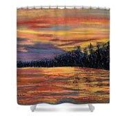 Rainbow Evening Shower Curtain
