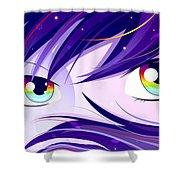 Rainbow Eyes Shower Curtain