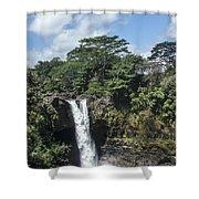 Rainbow Falls Hawaii Shower Curtain