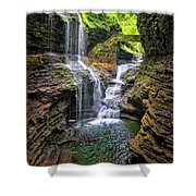 Rainbow Falls In Watkins Glen Shower Curtain