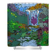 Rainbow Falls Purple Shower Curtain