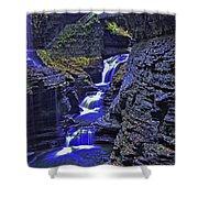 Rainbow Falls Watkins Glen State Park Shower Curtain
