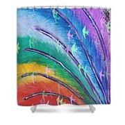 Rainbow Feathers Shower Curtain