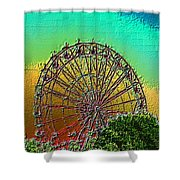 Rainbow Ferris Wheel Shower Curtain