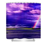 Rainbow Ferry Shower Curtain