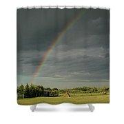 Rainbow Field Shower Curtain