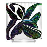 Rainbow Firefly Abstract Shower Curtain
