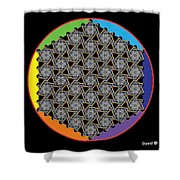 Rainbow Flower Of Life Wob Shower Curtain