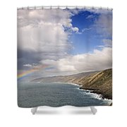 Rainbow From The Sea Shower Curtain