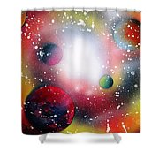 Rainbow Galaxy Shower Curtain