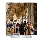 Rainbow Girl In The Hall Of Mirrors Shower Curtain