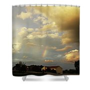 Rainbow House Shower Curtain