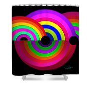 Rainbow In 3d Shower Curtain