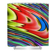 Rainbow In Abstract 04 Shower Curtain