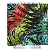 Rainbow In Abstract 05 Shower Curtain