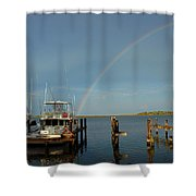 Rainbow In Apalachicola Fl Shower Curtain
