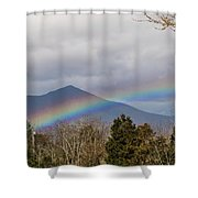 Rainbow In Front Of Sharp Top Shower Curtain