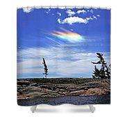 Rainbow In The Clouds Shower Curtain