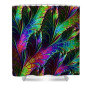 Rainbow Leaves Shower Curtain
