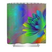 Rainbow Lily Shower Curtain