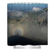 Rainbow-man Shower Curtain