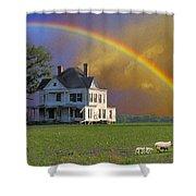 Rainbow Meadow Shower Curtain