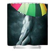 Rainbow Mike  Shower Curtain