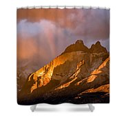 Rainbow Mountain In The Storm Shower Curtain