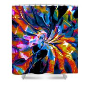 Rainbow Nebula Shower Curtain