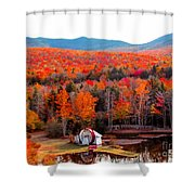 Rainbow Of Autumn Colors Shower Curtain