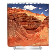 Rainbow Of Colors At The Wave Shower Curtain