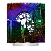 Rainbow Of Time Shower Curtain