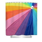 Rainbow On The Beach Shower Curtain