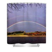 Rainbow On The Double Shower Curtain