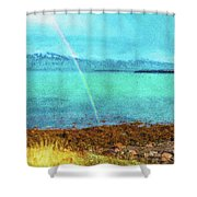 Rainbow On Videy Shower Curtain