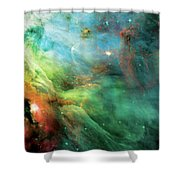 Rainbow Orion Nebula Shower Curtain by Jennifer Rondinelli Reilly - Fine Art Photography