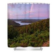 Rainbow Over Broken Bow Lake Shower Curtain