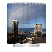 Rainbow Over Hilton Shower Curtain