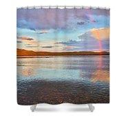 Rainbow Over Magalloway  Shower Curtain